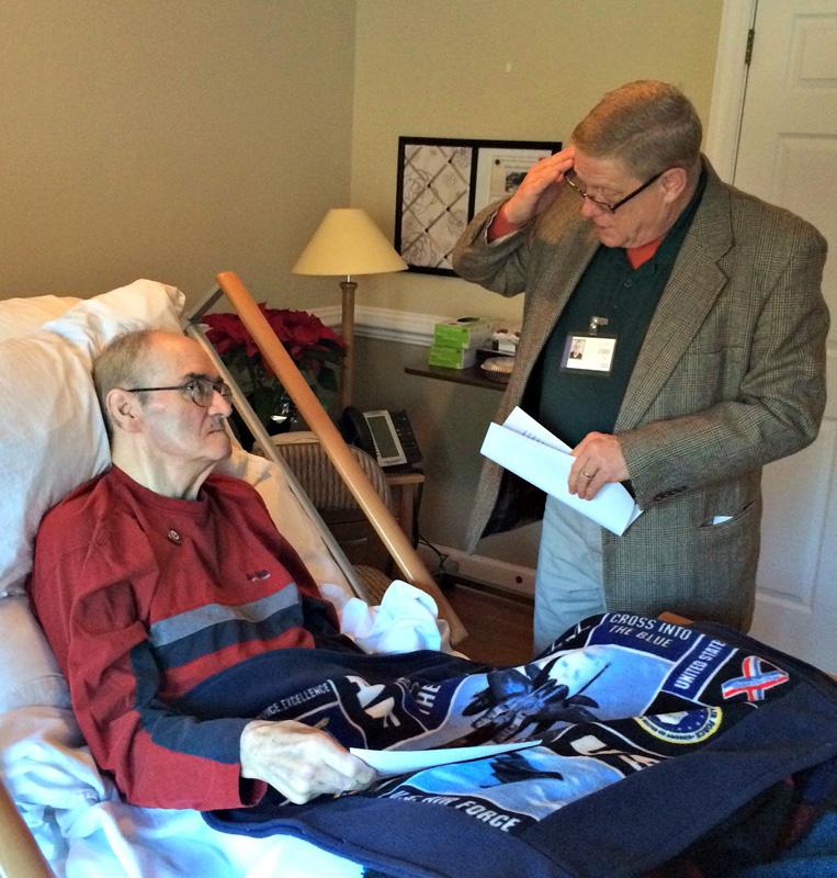Veteran in Bed with Blanket