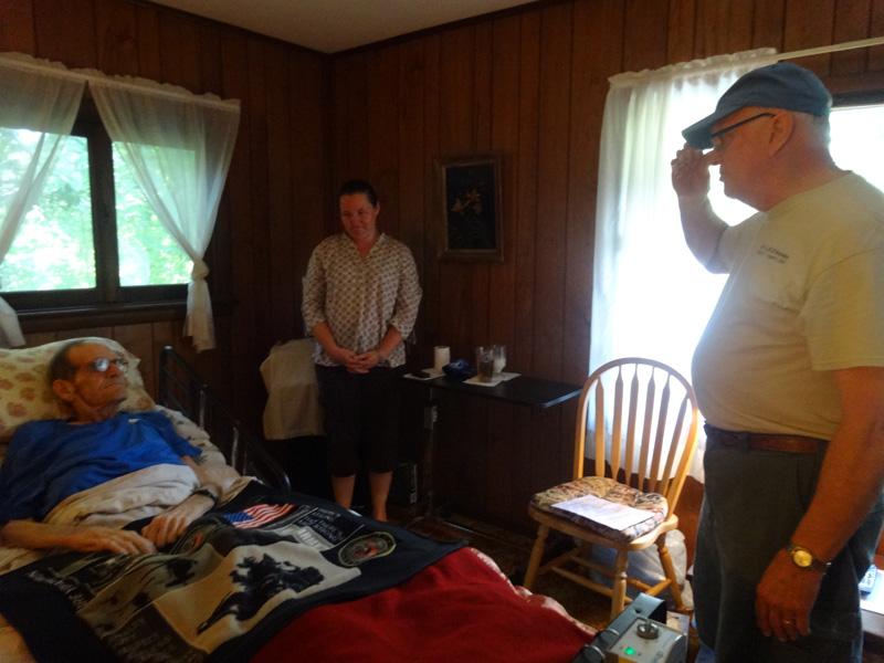 Interieor Room, Veteran In Bed